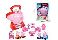 Игровой набор Гостиная Свинки Пеппы Peppa Pig в чемоданчике с фигурками