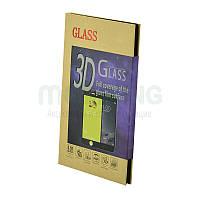 Стекло iPhone 7 3D Black черное защитное стекло для мобильного телефона.
