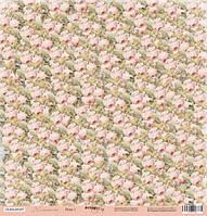 Лист односторонней бумаги 30x30 от Scrapmir Розы 1 из коллекции Нежность