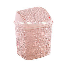 """Відро для сміття з поворотною кришкою """"Ажур"""" 384, Туреччина, рожеве"""