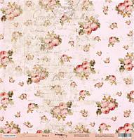 Лист односторонней бумаги 30x30 от Scrapmir Розы 3 из коллекции Нежность