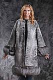 Шуба пальто из каракульчи SVAKARA со съемной чернобуркой swakara broadtail jacket coat furcoat, фото 2