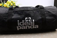 Спортивная дорожная сумка, Ideal Panda. Черная.