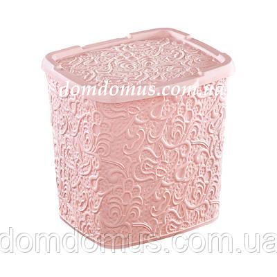 """Контейнер для порошка """"Ажур"""" 383 Elif Plastik, розовая"""