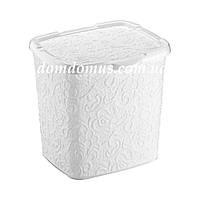 """Контейнер для порошка""""Ажур"""" Elif Plastik 383, Турция, белая"""