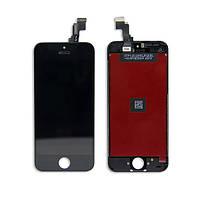 Модуль для iPhone 5C (дисплей + тачскрин), черный, копия высокого качества (TianMa)
