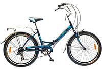 """Велосипед собранный почта 20"""" OPTIMABIKES VECTOR St с багажн. синий 2014"""