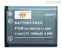 Аккумулятор для фотоаппарата Rekam LI-40B, 1400 mAh.