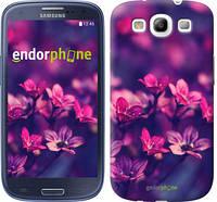 "Чехол на Samsung Galaxy S3 Duos I9300i Пурпурные цветы ""2719c-50"""