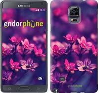 """Чехол на Samsung Galaxy Note 4 N910H Пурпурные цветы """"2719c-64"""""""