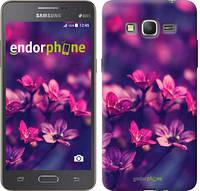 """Чехол на Samsung Galaxy Grand Prime G530H Пурпурные цветы """"2719c-74"""""""