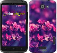 """Чехол на HTC One X+ Пурпурные цветы """"2719c-69"""""""
