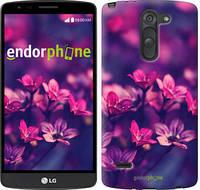 """Чехол на LG G3 Stylus D690 Пурпурные цветы """"2719c-89"""""""