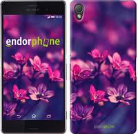 """Чехол на Sony Xperia Z3 dual D6633 Пурпурные цветы """"2719c-59"""""""