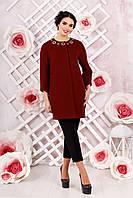 Модное женское пальто свободного кроя в 2х цветах В-1000 Букле, фото 1