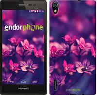 """Чехол на Huawei Ascend P7 Пурпурные цветы """"2719c-49"""""""