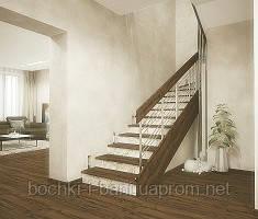 Отделка бетонных и металлических лестниц