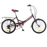 """Велосипед собранный почта 20"""" OPTIMABIKES VECTOR St с багажн. черно-красный 2014"""
