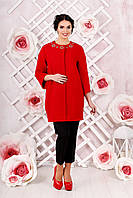 Стильное женское пальто свободного кроя в 2х цветах В-1000 Вар. шерсть , фото 1