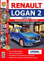 Renault Logan 2 бензин Мануал по эксплуатации и ремонту (цветной)