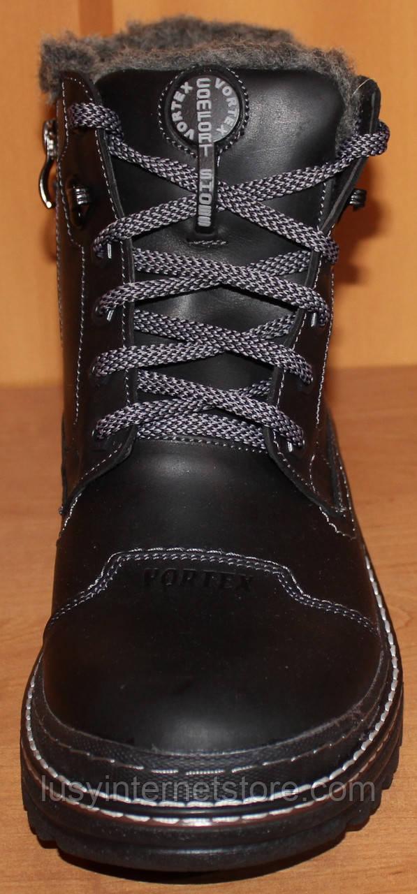 994c830db ... фото Мужские ботинки зимние на шнурках кожа, зимняя мужская обувь от  производителя модель ВА71 ...