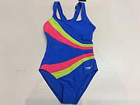 Купальник спортивный для плавания (голубой) для девочек ростом 120,130,140,150,160 см.