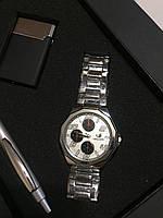 Подарочный набор №5 - часы, ручка, зажигалка - подарок для мужчин
