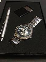 Подарочный набор №6 - часы, ручка, зажигалка - подарок для мужчин