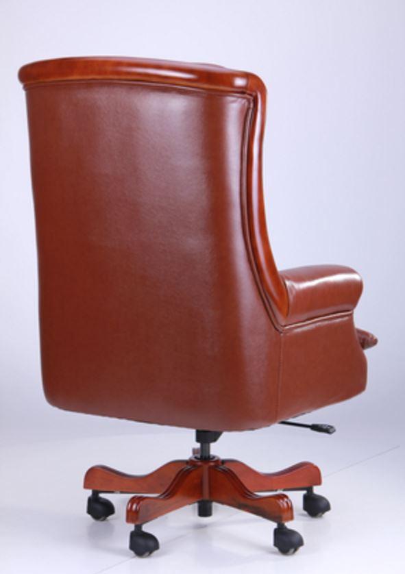 Кресло Линкольн, кожа коричневая (671-B+PVC) фото 2