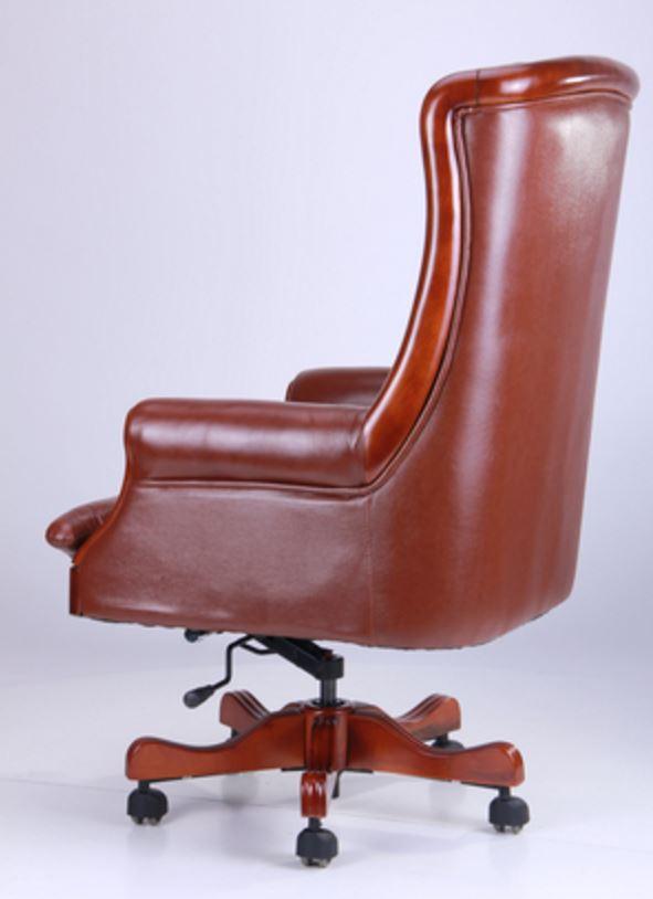 Кресло Линкольн, кожа коричневая (671-B+PVC) фото 3
