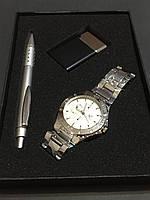 Подарочный набор №7 - часы, ручка, зажигалка - подарок для мужчин