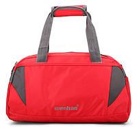 Компактная дорожная-спортивная сумка Wenhao. Красная