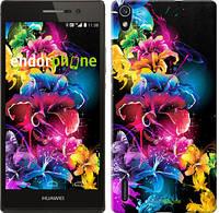 """Чехол на Huawei Ascend P7 Абстрактные цветы """"511c-49"""""""