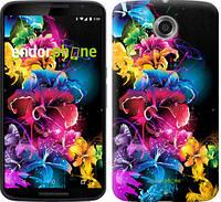 """Чехол на Motorola Nexus 6 Абстрактные цветы """"511c-67"""""""
