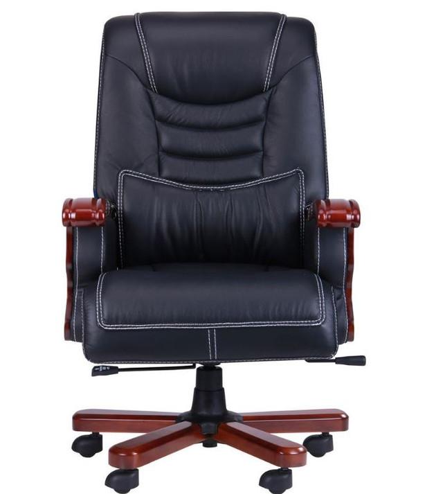 Кресло Монреаль, кожа черная (675-B+PVC) фото 4