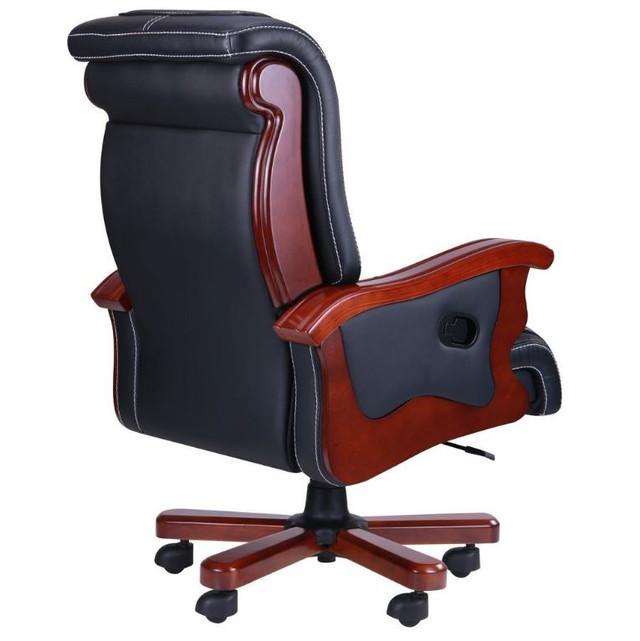 Кресло Монреаль, кожа черная (675-B+PVC) фото 3