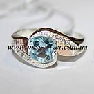 Комплект серебряный с голубым фианитом и золотом Жаклин, фото 4