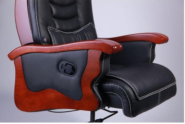 Кресло Монреаль, кожа черная (675-B+PVC) фото 5