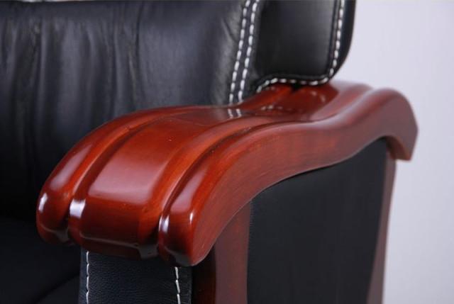 Кресло Монреаль, кожа черная (675-B+PVC) фото 6