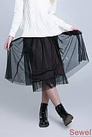 Летняя пышная юбка из фатина