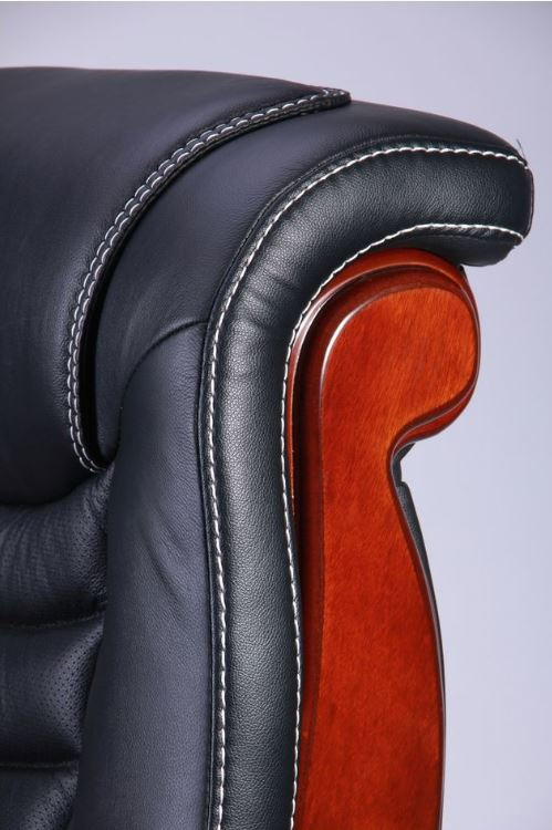 Кресло Монреаль, кожа черная (675-B+PVC) фото 7