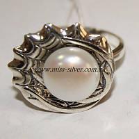 Кольцо из серебра с жемчугом Патриция