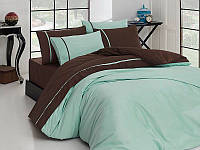 Комплект постельного белья First Choice Suyesili Koyukahve сатин 220-200 см разноцветный, фото 1
