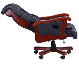 Кресло Монреаль, кожа черная (675-B+PVC), фото 3