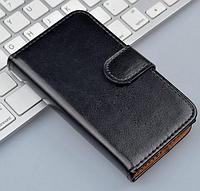 Кожаный чехол-книжка  для Lenovo A1000 / A2800 черный