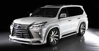 Аэродинамический обвес Wald Sports Line для Lexus LX 570 2015+ Передняя + задняя накладка + расширители арок