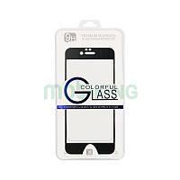 Стекло iPhone 5/5S/SE 3D Metal Black защитное стекло с черной металлической рамкой.