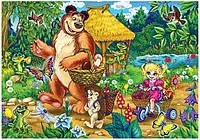 Пазл MAXI 60 элементов, крупные детали / Маша и медведь-1
