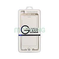 Стекло iPhone 5/5S/SE 3D Metal Gold защитное стекло с золотой металлической рамкой.