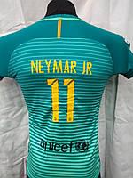 Футбольная форма детская подростковая  BARCELONA Neymar Júnior сезон 2017 бирюзовая